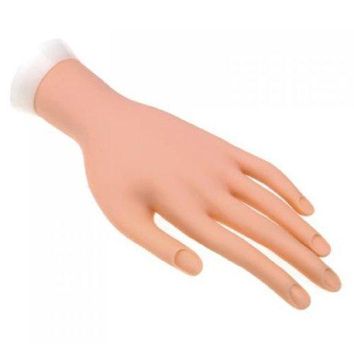 So Beauty flexible menschliche Hand für Nail Art Übung, linke Hand, fleischfarben