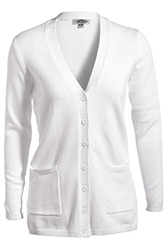 Edwards Ladies' V-Neck Long Cardigan Sweater Medium -