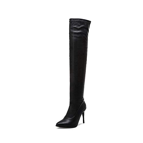 Black US5.5   EU36   UK3.5   CN35 Black US5.5   EU36   UK3.5   CN35 Women's shoes Faux Leather Fall & Winter Fashion Boots Boots Stiletto Heel Pointed Toe Over The Knee Boots White Black   Red