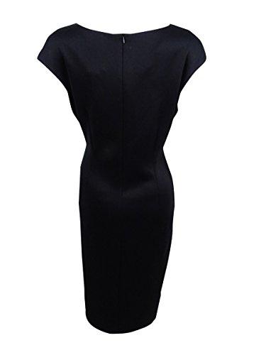 Robe De Gaine De Panneau De Point De Diamant Des Femmes Connectées (10, Noir)