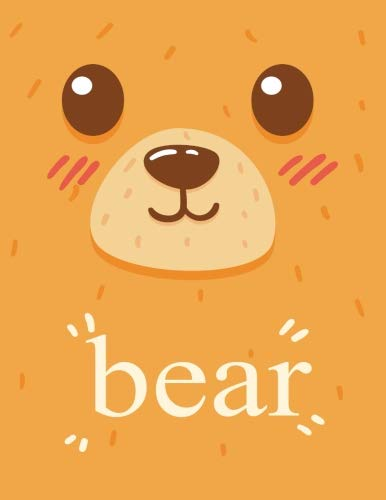 Notebook: bear cover (8.5 x 11)  inches 110 pages, Blank Unlined Paper for Sketching, Drawing , Whiting , Journaling & Doodling (animal notebook,) (Volume 33) by Char story