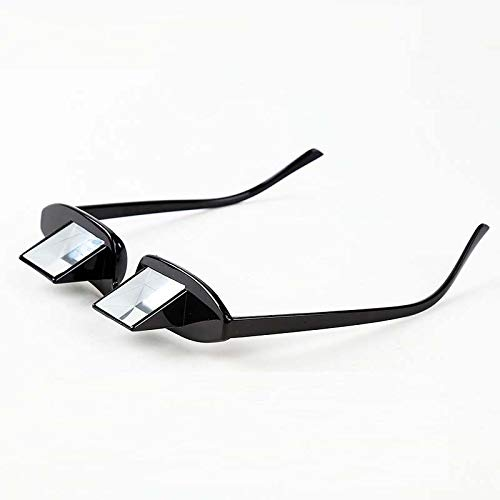LJXiioo Prism Eyeglasses Lazy Reader Glasses Bed Horizontal Lazy Spectacles for Reading and Watching TV - 2pcs