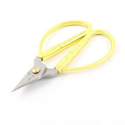 eDealMax hoja de Acero inoxidable Para uñas Tijeras 4,3 pulgadas de Largo tonos oro