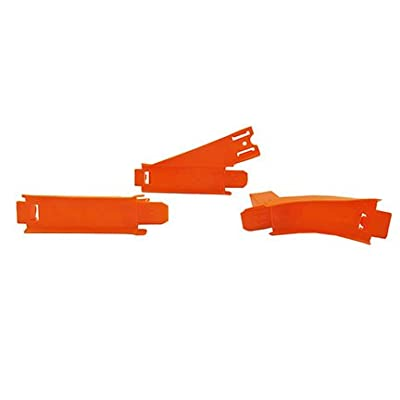 Fisher-Price Replacement Parts for Hot Wheels Criss-Cross-Crash Track Set DTN42 - Includes 3 Orange Track Connectors - 1 Each of A, B & C: Toys & Games