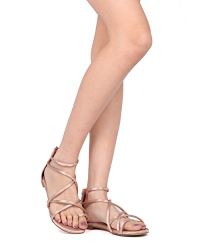 Femmes Gladiateur Sandales Noires Taille 6 entièrement neuf sans étiquette