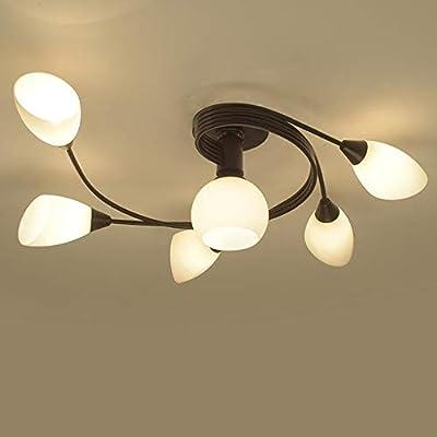 Joypeach Rustic Style LED Flush Mount Ceiling Lights, Creative Living Room Ceiling Lamp, Bedroom Ceiling Lamp, Ceiling Lamp For Dinning Room (110V)
