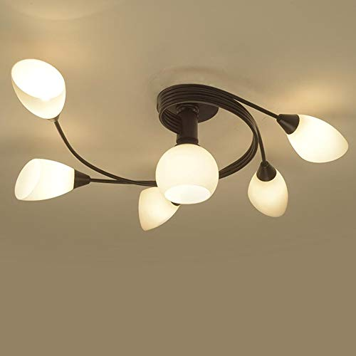 - Joypeach Rustic Style LED Flush Mount Ceiling Lights, Creative Living Room Ceiling Lamp, Bedroom Ceiling Lamp, Ceiling Lamp For Dinning Room (110V)