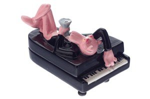 (Gift House Pink Panther Piano Salt & Pepper)