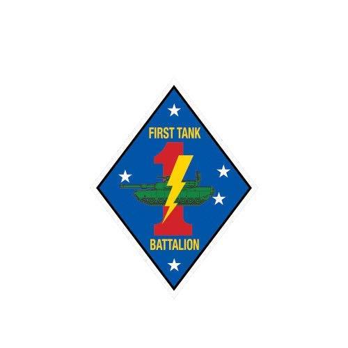 (ION Graphics Magnet 1st Tank Battalion USMC V2 Marine Magnetic Vinyl Die Cut Vinyl Marines Corp 5