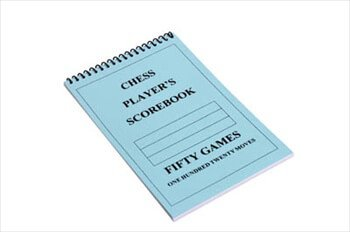The House of Staunton US Chess Federation Chess Player Chess Scorebook (120 Moves/Game) - Blue (Chess Game Best Moves)