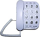 MegFong MF-11W Extra Large Button Phone for Elderly Senior Amplified Corded Phone