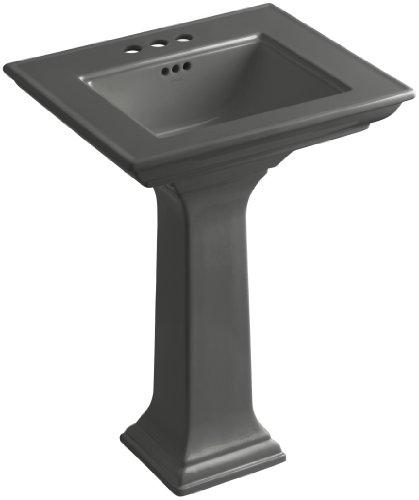 KOHLER K-2344-4-58 Memoirs Pedestal Bathroom Sink with Stately Design and 4