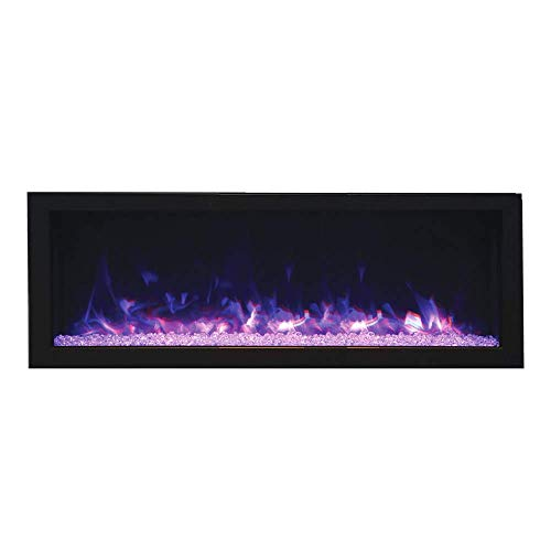 Cheap Remii DEEP Full Flame Indoor/Outdoor Frameless Built-in Electric Fireplace Black Friday & Cyber Monday 2019