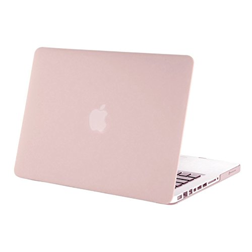 MOSISO Plastic Hard Shell Case Cover Only Compatible with Old Version MacBook Pro 13 Inch (Model: A1278, with CD-ROM), Release Early 2012/2011/2010/2009/2008, Rose Quartz (Pink Cd Cover)