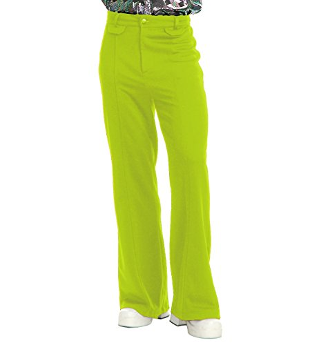 Mens White Disco Pants (Charades Men's Disco Pants, Lime,)