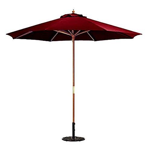 Wood Market Umbrella Burgundy