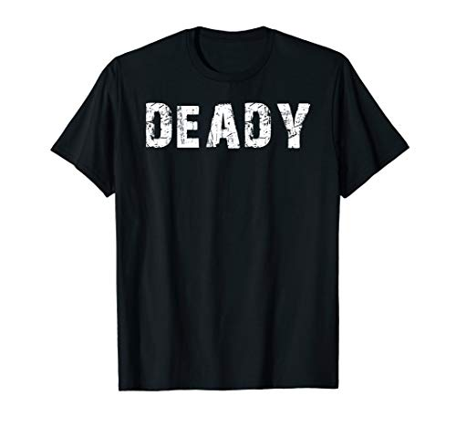 Deady And Mummy Funny Halloween Costume T-Shirt For Dads Tee ()