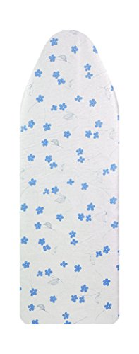 VieveMar Ironing Board Cover, SAVE 50% IRONING TIME! EASY FIT with DrawString, NO DYE TRANSFER! 3 DURABLE LAYERS with Cotton, Aluminum and Teflon, Heat Reflective, Fits Wide Boards 18'' x 49'' (Blue) by VieveMar
