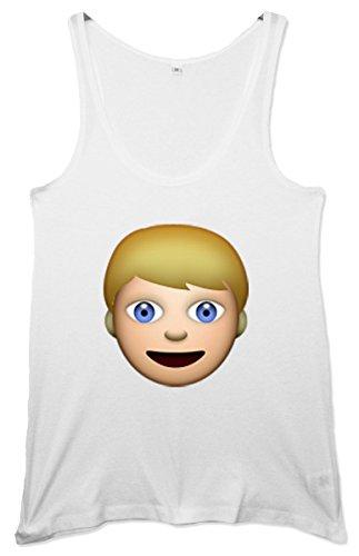 Blond Man Emoji Women's Tunic Weste Weiß uja5LZ3