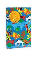 Jungle Down Animals Monkey Giraffee Zebra Elephant Gift Wrap Paper - 18 Foot Roll