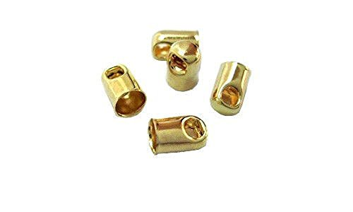 CORD END TIP CONNECTOR TASSEL GLUE IN STYLE CHOOSE SIZE and PLATING (Gold Plated Large - Plated Gold Tassel