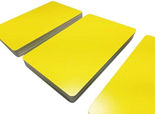 Premium Plastikkarten | PVC Karten GELB MATT Design | 1-100 Stück | Blanko Rohlinge | NEU! (10)