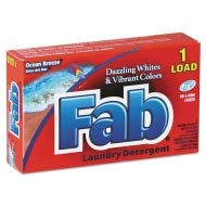 Fab Dispenser-Design HE Laundry Detergent Powder, Ocean Breeze, 1oz Box - VEN035690 by Fab