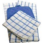 Kitchen Towels TAN Solid Check 15x25 100% Ringspun Cotton-12dz by KITCHEN ENSEMBLE