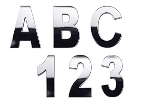 Personalized Set of Chrome Auto Letters and Numbers - Monster Style