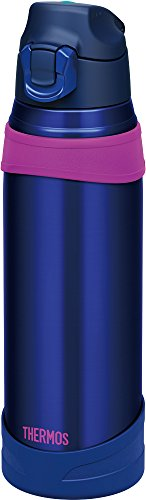 Thermos vacuum insulation sports bottle 1L navy pink FHQ-1000 NV-P by Thermos