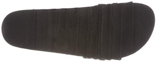 Black of One Strap Bio Sandales Femme Upper Bout california Colors Noir Ouvert High Sole ARwqO4R