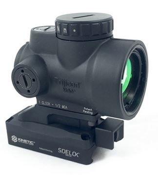 Trijicon 1x25mm MRO 2.0 MOA Red Dot Sight w/ Kinetic Development Group SIDELOK MRO Lower 1/3 from Trijicon