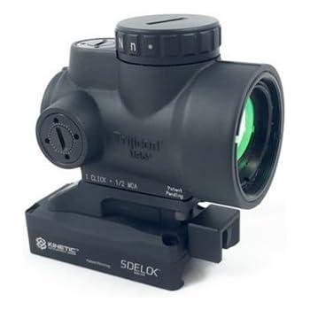 Trijicon 1x25mm MRO 2.0 MOA Red Dot Sight w/ Kinetic Development Group SIDELOK MRO Lower 1/3
