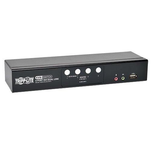 Tripp Lite 4-Port DVI Dual-Link/USB Desktop KVM Switch with Audio & Cables (B004-DUA4-HR-K) ()