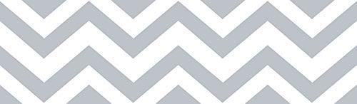 Sweet Jojo Designs Gray and White Chevron Zig Zag Modern Wall Paper Border (Designs Bedroom Wallpaper)