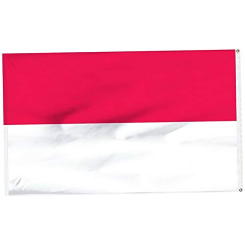 Hebel 3x5 Indonesia Asian Republic Country Flag 3x5 Banner Brass Grommets No Face | Model FLG - ()