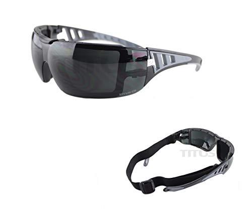 Titus G31, Padded Extreme Sport Goggle Glasses, Smoke Lenses Z87 ()