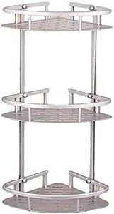 الحمام الزاوية الرف الألومنيوم 3 طبقات دش رفوف التخزين الزاوية مع خطاف ركن المطبخ لزجة الرفوف