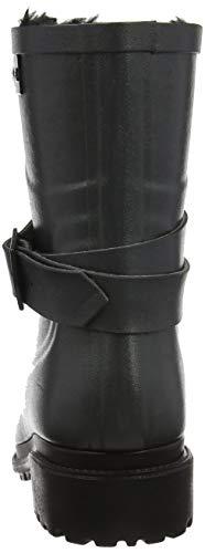 Gris et Femme Macadames Pluie Bottes de Bottines Aigle Fur Mid Metallic qZznwxIa