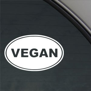 Vegan Decal Car Truck Bumper Window Vinyl Sticker (Vegan Bumper Sticker compare prices)