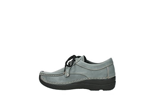 Grau Seamy Stroll à Comfort Nubukleder Wolky lacets Chaussures 10220 IP1Ow0