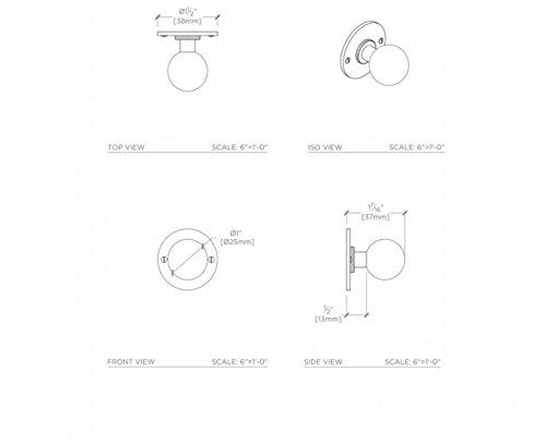 Waterworks Peerless 1'' Knob in Nickel by Water Works (Image #1)