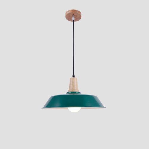 BDYJY  Moderne tête Simple plafonniers en Bois Couleuré Lustre créatif Lampe pendentife pour Restaurant Bar café Salon vêteHommests Boutique E27 réglable en Hauteur (Couleur  Vert)