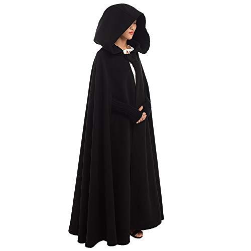 GRACEART Women's Hoodie Woolen Cape Cloak Costume Long ()