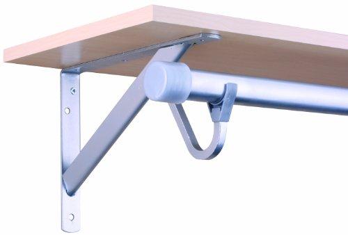 John Sterling Closet-Pro HD RP-0495-PM Heavy Duty Shelf & Rod Bracket, Platinum (Depot Shelves Home Closet)