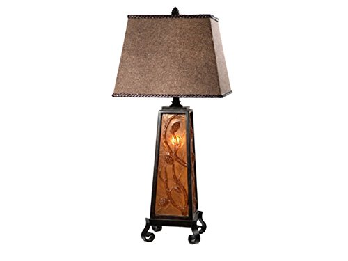 Autumn's Light Table Lamp (CIAUP471) - Amber Rustic Floor Lamp