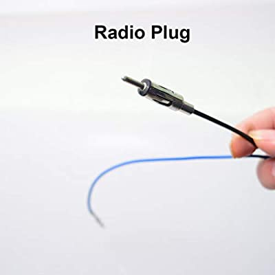 Car Radio Antenna Adapter Cable Dual FAKRA to AM/FM Coax Plug Male for Audi VW Skoda BMW After-Market GPS Navi DVD Stereo Head Unit Signal Amplifier: Car Electronics
