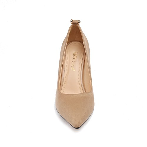 Dongya 4 Couleurs Femmes 100mm Talon Chaussures De Pompe Classique