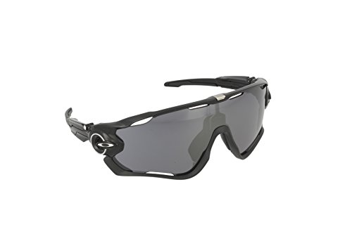 Oakley Men's Jawbreaker OO9290-01 Shield Sunglasses, Polished Black, 131 - Jawbreaker Oakley