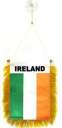 """Ireland Mini Banner (Set of 12 Premium Quality Polyester Banners), 4"""" x 6"""""""